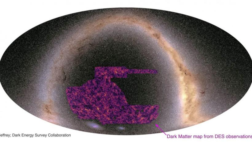 Астрономы создали самую большую карту темной материи Вселенной
